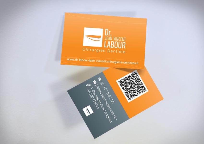 DOCTEUR LABOUR Dentiste Creation Cartes De Visite Plaquette Graphique Communication Papier